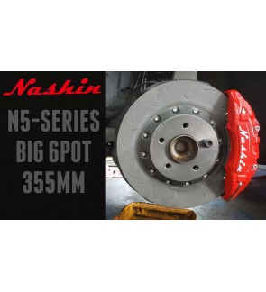 NASHIN (FRONT) : N5-SERIES BIG 6pot 355MM BRAKE KIT