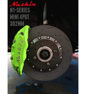 NASHIN (FRONT) : N1-SERIES MINI 4pot 302MM BRAKE KIT