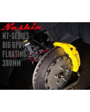NASHIN (FRONT) : N7-SERIES BIG 6pot 380MM FLOATING BRAKE KIT