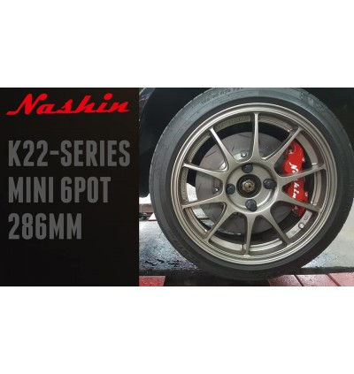 NASHIN K22 SERIES 286MM BIG BRAKE KIT (MINI 6-POT)