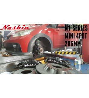 NASHIN (FRONT) : N1-SERIES MINI 4pot 286MM BRAKE KIT