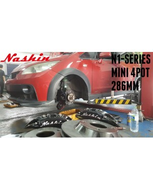 NASHIN (FRONT) : N1-SERIES MINI 4pot 286MM BRAKE KIT