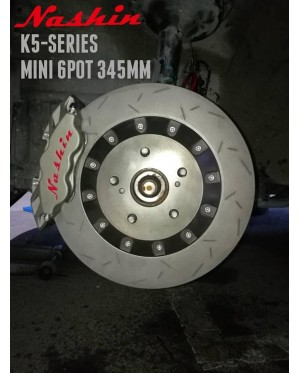 NASHIN (FRONT) : K5-SERIES MINI 6pot 345MM BRAKE KIT
