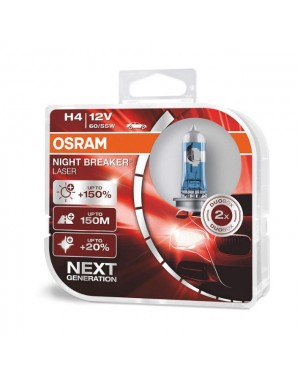 Osram Night Breaker Laser Bulb +150% Brightness - H4