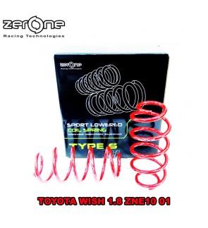 ZERONE TYPE S SPORT SPRING - TOYOTA WISH 1.8 ZNE10 ZNE14 03-08