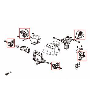 HARDRACE HARDEN ENGINE MOUNT HONDA CIVIC 6th EK3/4/5/9, EJ6/7/8/9, EM1