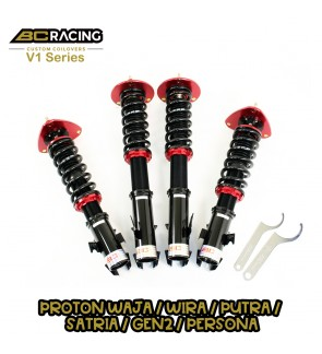BC RACING V1 SERIES ADJUSTABLE SUSPENSION PROTON WAJA / WIRA / PUTRA / SATRIA / GEN2 / PERSONA