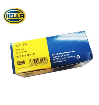 Hella T20 Brake Light Bulb 21W/5W (10 Pcs)
