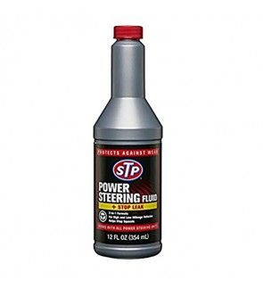 STP® POWER STEERING FLUID WITH STOP LEAK-12OZ