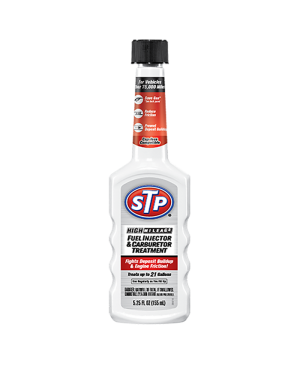 STP® HIGH MILEAGE FUEL INJECTOR & CARBURETOR TREATMENT-5.25OZ