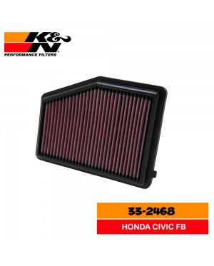 K&N 33-2468 Replacement Air Filter - Honda Civic FB