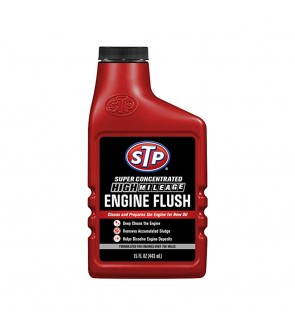 STP® SUPER CONCENTRATED HIGH MILEAGE ENGINE FLUSH-443ML