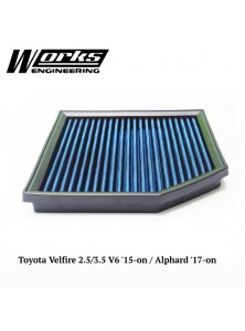 Works Air Filter - Toyota Velfire 2.5/3.5 V6 '15-on / Alphard '17-on