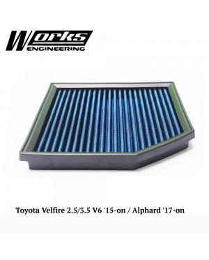 Works Air Filter - Toyota Velfire 2.5/3.5 V6 '15-on / Alphard '17-on