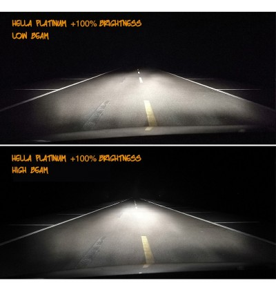 Hella Platinum H11 Bulb +100% Brightness (1 Pair)