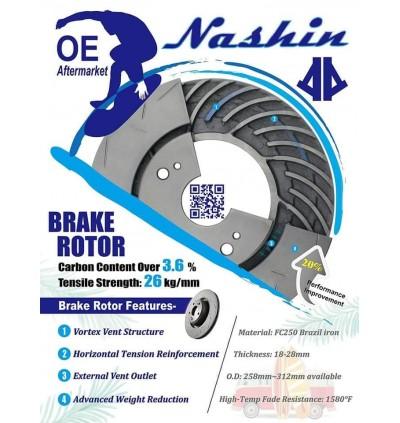 NASHIN OE REPLACEMENT ROTOR & BRAKE PAD (FRONT) - PROTON INSPIRA / LANCER GT