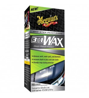 Meguiar's® 3-in-1 Wax  Multiple Steps, One Easy to Use Wax - G191016, 16 oz