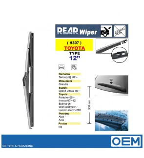 OEM REAR WIPER FOR X70/NEO/ESTIMA/ALZA/AXIA/MYVI/VIVA/HARRIER/KENARI