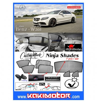 Ninja Sunshade for Mercedes Benz W205 C-Class (7 Pcs)