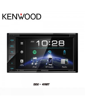 "Kenwood AV Receiver with WVGA Display (6.2"") DDX-419BT"