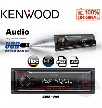 Kenwood FM/AM USB WMA/WAV/Mp3/FLAC Media Player - No CD KMM-204