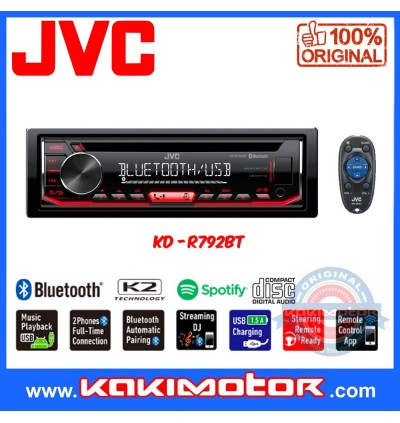 JVC KD-R792BT CD Receiver with Bluetooth/USB/AUX Input Player