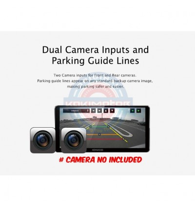 Kenwood Waze 7 Series Nav-App Weblink Bluetooth Double Din Receiver DDX7018BT