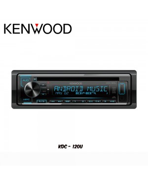 Kenwood USB/CD/FM/AM/MP3/WMA/WAV/FLAC Media Player KDC-120U