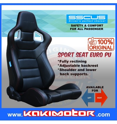 (1 Pair)SSCUS Sport Seat Euro Pu-Exclude Slider