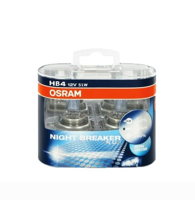 Osram Night Breaker Plus Bulb +90% Brightness H1/H3/H11/HB4/9006