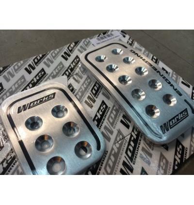 Works Engineering Aluminium Foot Pedal Set - Automatic
