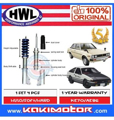 HWL MT1-BS Fully Adjustable Suspension - Toyota KE70 / AE86