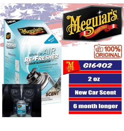 Meguiar's® G16402 Whole Car Air Re-Fresher Odor Eliminator Mist - New Car Scent