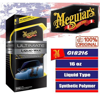 Meguiar's Ultimate Liquid Wax, G18216, 16 oz., Liquid, Applicator, Towel
