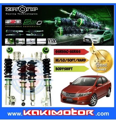 Zerone SSR550 Adjustable Suspension - Honda City / Jazz GE 08-13