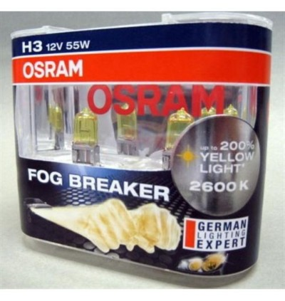 Osram Fog Breaker +200% Yellow Light 2600K H3