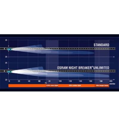 Osram Night Breaker Unlimited Bulb +110% Brightness H1