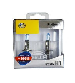 Hella Platinum H1 Bulb +100% Brightness (1 Pair)