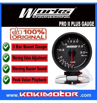 Works Engineering Pro II PLUS Gauge - Boost 3 Bar
