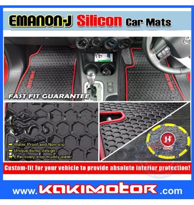 Emanon-J Silicon Floor Mat - Perodua Myvi 2018