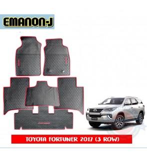 Emanon-J Silicon Floor Mat - Toyota Fortuner 2016