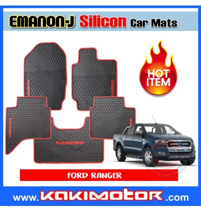 Emanon-J Silicon Floor Mat - Ford Ranger