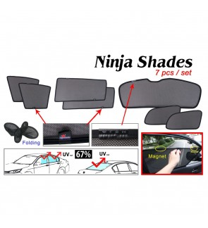Ninja Sunshade for Toyota Wish 2009-2017 (7 Pcs)
