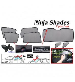 Ninja Sunshade for Porsche Cayenne 2010-2017 (7 Pcs)