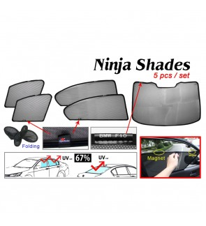Ninja Sunshade for BMW 5-Series F10 (5 Pcs)