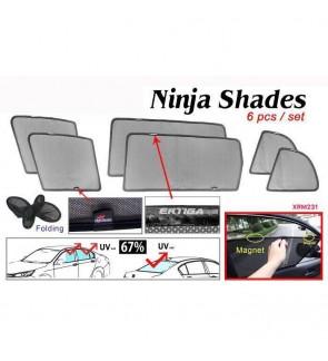 Ninja Sunshade for Proton Ertiga (6 Pcs)