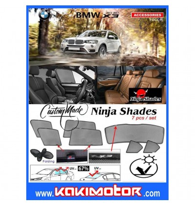 Ninja Sunshade for BMW X3 2011-2017 (7 Pcs)