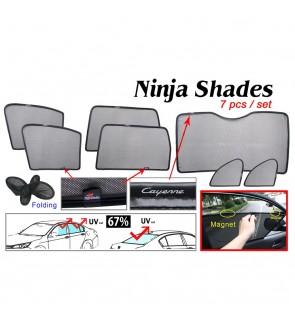 Ninja Sunshade for Porsche Cayenne 2003-2010 (7 Pcs)