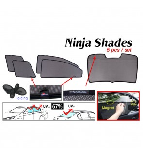 Ninja Sunshade for Toyota Vios 2017 (5 Pcs)