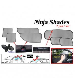 Ninja Sunshade for Toyota Alphard Vellfire GGH30 15+ (7 Pcs)